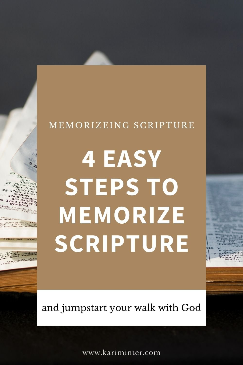 4 tips to memorizing scripture