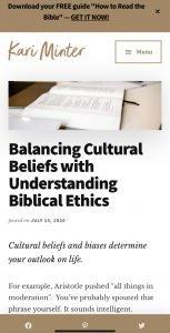 Blog post biblical ethics